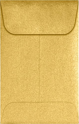 #1 Coin Envelopes (2 1/4 x 3 1/2) – Gold Metallic (250 Qty.) | Perfect for the HOLIDAYS, Weddings, Parties & Place Cards | Fits Small Parts, Stamps, Jewelry, Seeds | 1COGLD-250
