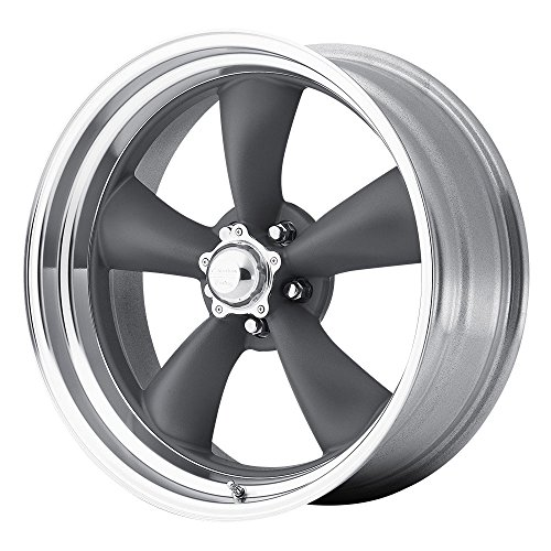 5 Classic Torq Thrust II 1 Pc Mag Gray Wheel with Center Polished Barrel (17x8