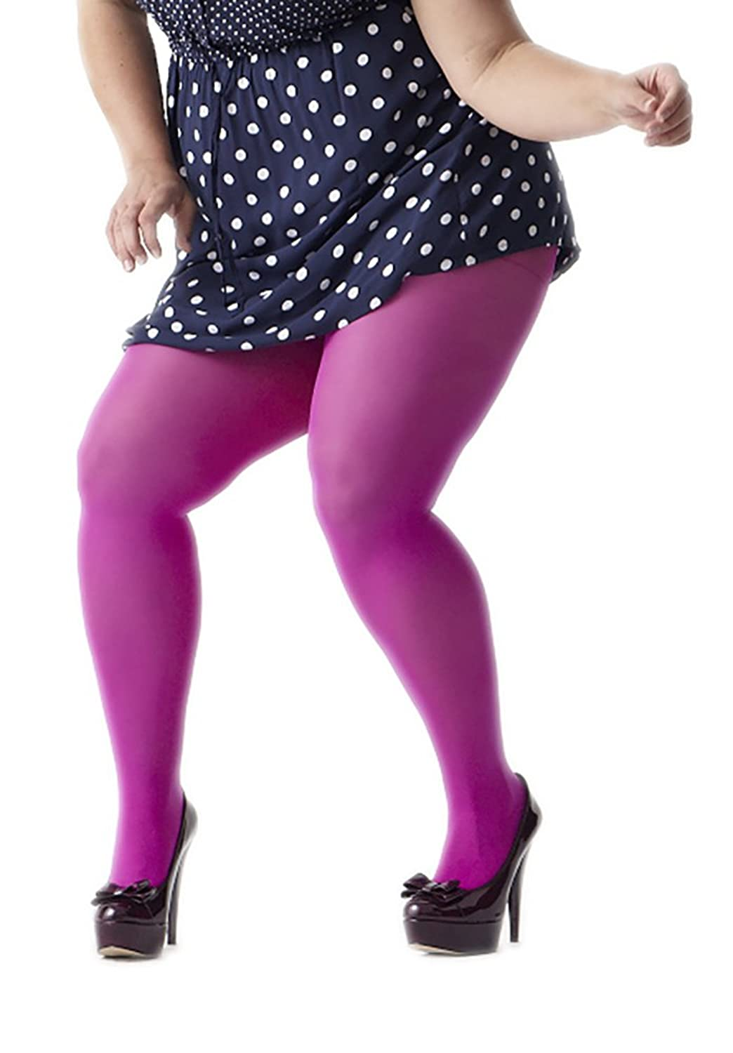 Fashion look from june 2014 featuring thigh high hosiery purple - Amazon Com Plus Size Nylon Lycra Tights 20 Colors 4 Sizes Up To 375 Lbs Clothing