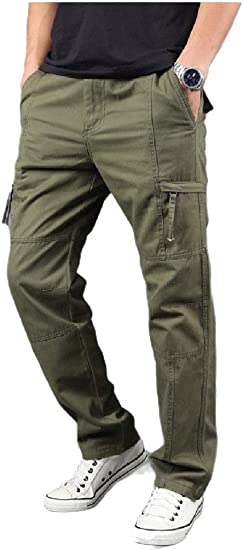 cheelot Men's Straight-Fit Baggy Endurance With Pockets Long Pants Cargo Pant