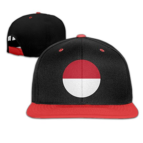 fan products of Europe Monaco Flag Circle Adjustable Kids Snapback Hip Hop Flat Brim Cap Trucker Funny Baseball Hat For Boys Girls