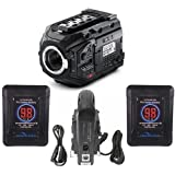 Blackmagic Design URSA Mini Pro 4.6K Camera with EF Mount, Bluetooth Camera Control - Bundle With 2x Indipro Micro-Series 98Wh V-Mount Li-Ion Battery, IndiPRO PD2BCH V-Mount Dual Battery Charger