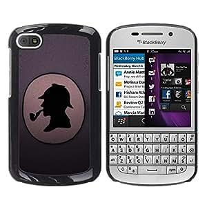 TopCaseStore / la caja del caucho duro de la cubierta de protección de la piel - Funny Detective - BlackBerry Q10