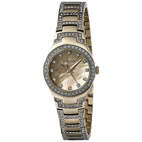Bulova Women's 98L199 Analog Display Japanese Quartz Two Tone Watch