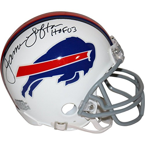 James Lofton Signed Buffalo Bills Mini Helmet w/ HOF 03 Insc. - James Lofton Signed Buffalo Bills
