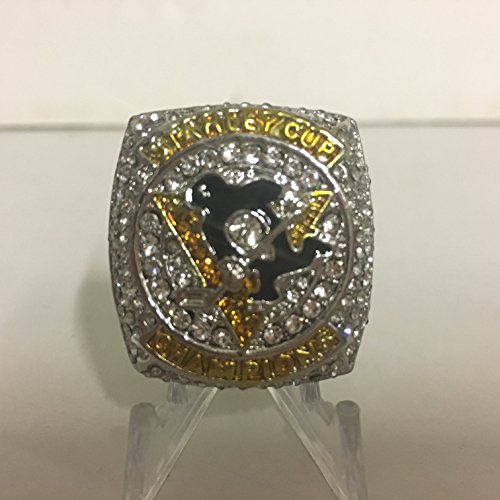 2016 Sidney Crosby #87 Pittsburgh Penguins High Quality Replica Stanley Cup Ring Size 10-Silver Colored