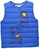 Stven Hetick Cartoon Printed Vest Baby Boys and Girls Four colors Warm Down Wear Vest Navy Blue NB90.