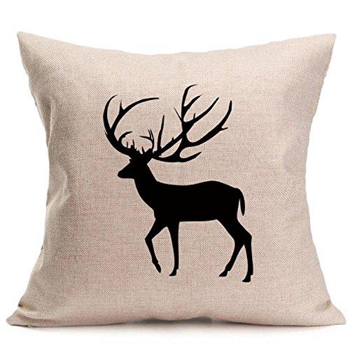 Pillow Cases ,IEason Clearance Sale! Christmas Deer Pillow Case Sofa Waist Throw Cushion Cover Home Decor
