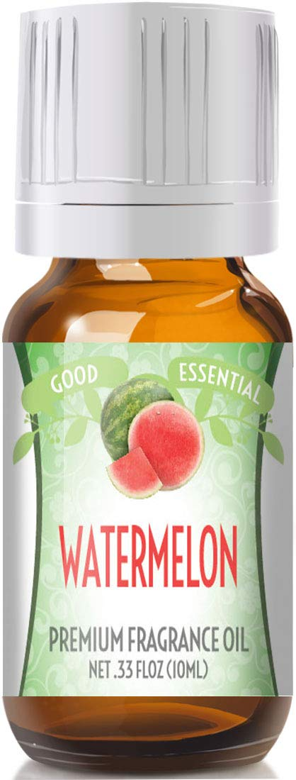 Watermelon Scented Oil by Good Essential (Premium Grade Fragrance Oil) - Perfect for Aromatherapy, Soaps, Candles, Slime, Lotions, and More!