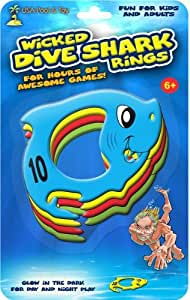 Wicked Dive Shark Rings Glow In The Dark Toys Games