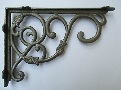 IRONMONGERY WORLD? IN 27 DESIGNS ANTIQUE CAST IRON SHELF BRACKET SUPPORT BOOK SINK TOILET CISTERN (LARGE DUTCH BRACKET 230 X 340 MM) by Ironmongery World by Ironmongery World