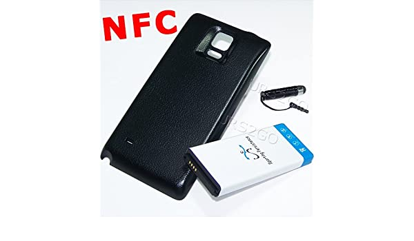 Galaxy Note 4 NFC Extended Battery High Power 11900mAh NFC Extended Double Layer Battery Thicker Back Cover Stylus for Samsung Galaxy Note 4 SM-N910V Verizon Phone