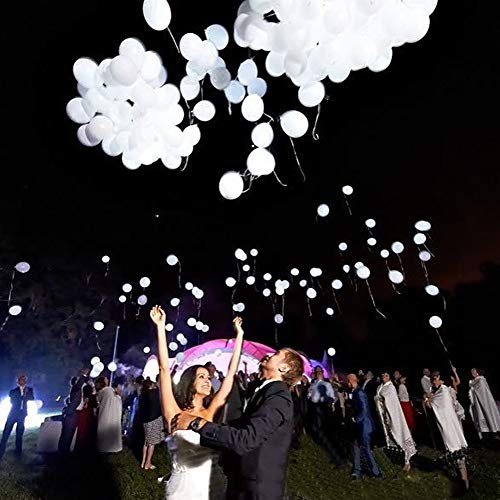 High Quality | Ballons & Accessories | Hot 50pcs/lot 12inch White Led Flash Balloons Illuminated LED Balloon Glow Birthday Party Supplies Wedding Decoration Wholesale | by HeroBar991