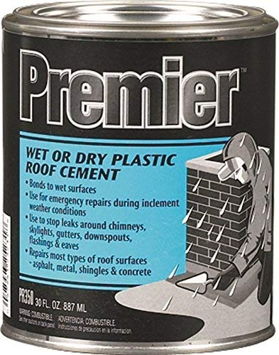 (Henry, WW Company PR350030 Henry Premier Wet or Dry Black Plastic Roof Cement, 30 Oz, 12 g)