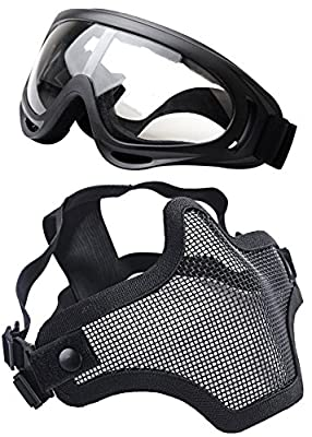 "Coxeer Tactical Airsoft Mask ""Striker"" Steel Metal Mesh Lower Half Face Mask"