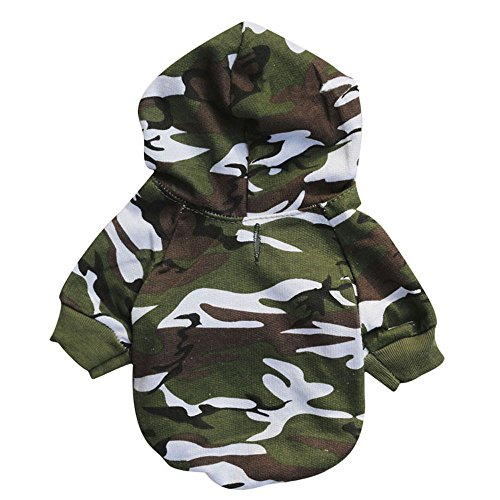 Beautyvan, Puppy Pet Dog Clothes Sweatshirts (S, camo)