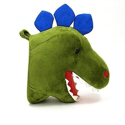 "GUND Chomper Plush Dinosaur Head Stuffed Animal Hanging Wall Décor, Green, 15"": Toys & Games"