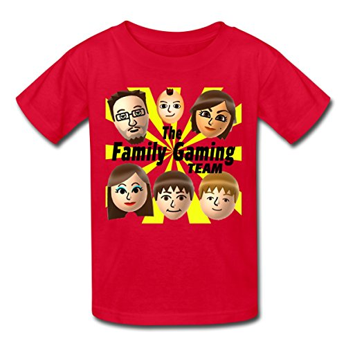 Spreadshirt FGTeeV The Family Gaming Team Kids' T-Shirt, M, red from Spreadshirt