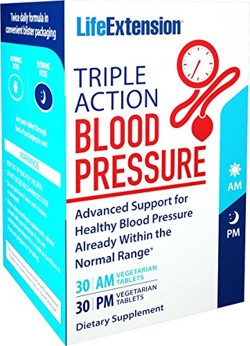 e Action Blood Pressure (30 AM Tablets and 30 PM Tablets), 60 Tablets (Triple Compound)