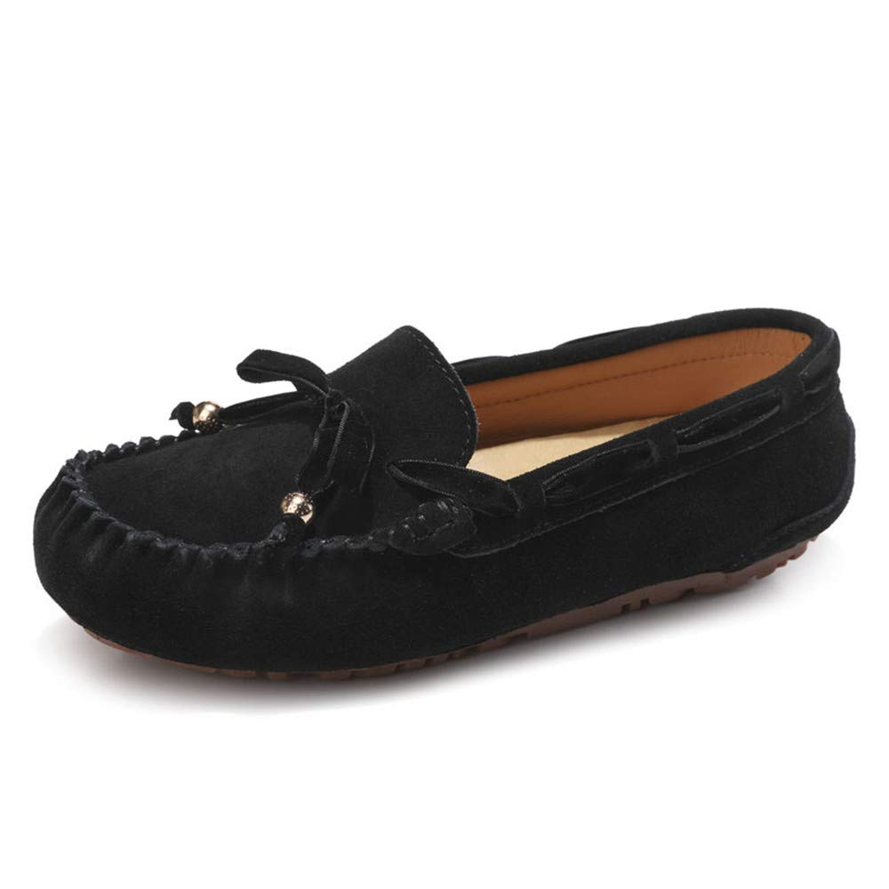 Sunny&Baby Penny Driving Loafer Gamuza Cuero Genuino Señora Casual Mocasines Barco Zapatos de Vestir Antideslizante (Color : Negro, tamaño : 41 EU): ...