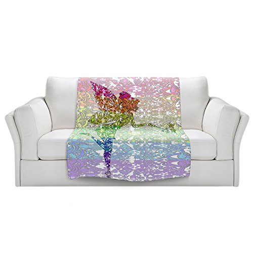Blankets Ultra Soft Fuzzy Fleece 4 SIZES! DiaNoche Designs - Susie Kunzelman Fairy Dance Rainbow Home Decor Bedroom Couch Throw Blankets by DiaNoche Designs