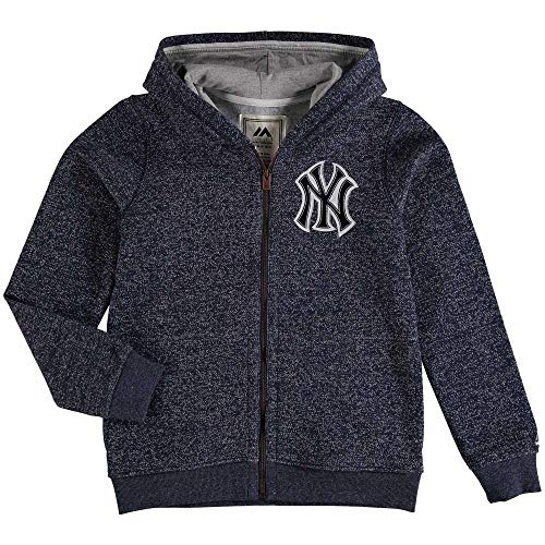 Hood Majestic Athletic (Majestic Athletic York Yankees Youth Size X-Large (18) Full Zip Hooded Sweatshirt)