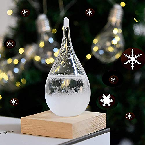 Gyrategirl Storm Glass, 2020 New Weather Stations Weather Predictor, Creative Forecast Nordic Style Decorative Weather Glass Barometer Weather Bottle