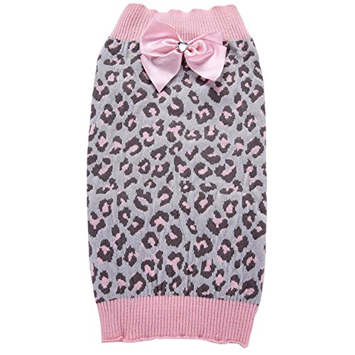 ZHWKY Winter Dog Apparel Puppy Winter Knitwear Sweater Princess Girls Dog Pink Pet Sweater Pet Supplies