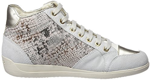 Off Geox Women's Top Trainers Hi White D Myria C 001qHr