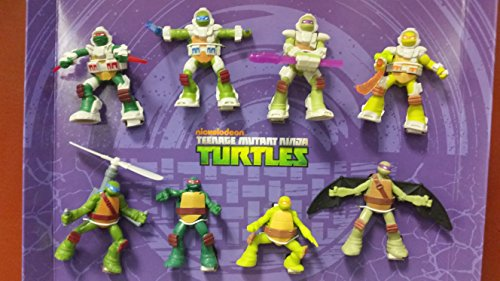 Mcdonalds 2016 TEENAGE MUTANT NINJA TURTLES - COMPLETE SET OF 8 (Mcdonalds Ninja Turtle Toys)