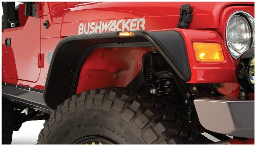 Bushwacker 10920-07 Jeep Flat Style Fender Flare - Set of 4