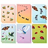 Two Pocket Folders Bulk – 12-Pack Letter Size File Folders, 6 Insect Designs, School Folders with Pockets, 12 x 9.25 Inches