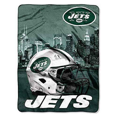 The Northwest Company NFL New York Jets Silk Touch Raschel Super Plush Throw, One Size, Multicolor