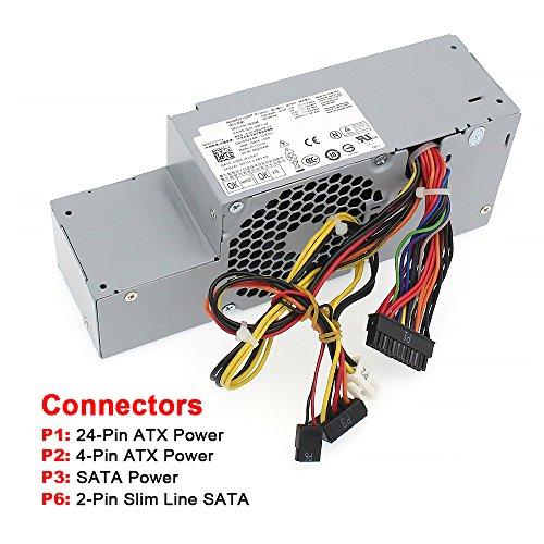 S-Union FR610 WU136 PW116 67T67 RM112 R224M 235W Power Supply for Dell Optiplex 760, 960 780 580 SFF Systems, Model Numbers H235P-00 L235P-01 L235P-00 H235E-00 F235E-00 L235ES-00 by S-Union (Image #2)
