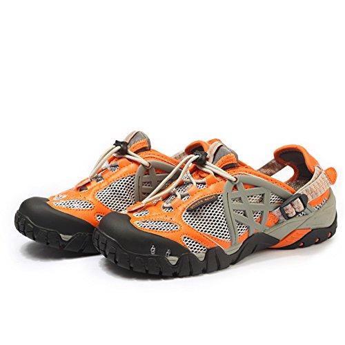 Wanderschuhe Herren Damen Outdoorschuhe Schuhe Wasserdicht Sommer Trekkingsandalen Showlovein Outdoor Orange Wandersandalen 1H6qXwZ