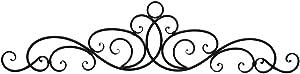 Zeckos 54 Inch Metal Wall Art Scroll Hanging Door Or Window Decor Antique Bronze Accent Rustic Decorative Arch