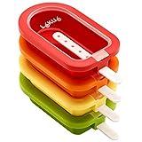 Lekue 3400221S01U150 4 Unit Stackable Ice Lollipop Mold