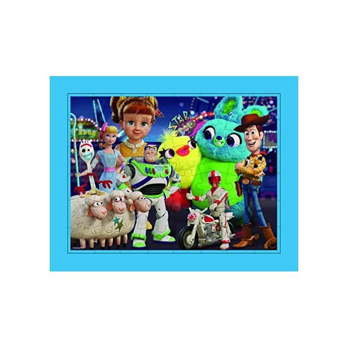 51OFX9K3ztL Conjunto de 3 puzles con los personajes de la película Toy Story 4 Los puzles tienen efecto lenticular (3D) y se componen de 48 piezas grandes Las medidas de los puzles son 30 x 23 cm
