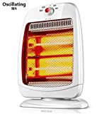 STEAM PANDA Portable Heater Infra-Red Quartz Tube Heating 220v 800w Low Wattage Energy Efficient Tilt Safety Cut Off