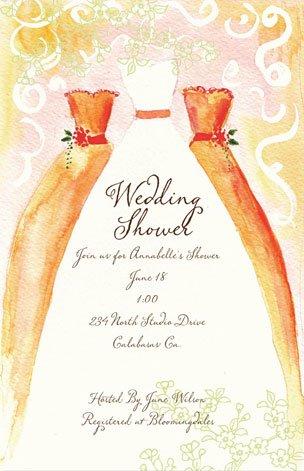 Amazon Com Bridesmaid Luncheon Invitations Creamcicle Bella Ink