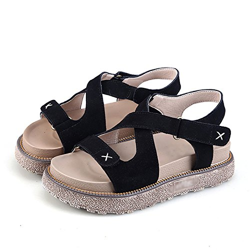 Size Casual Summer Shoes Black Flats Perfues Woman Sandals Women 35 Creepers Shoes Comfort 43 Platform ZPnqF
