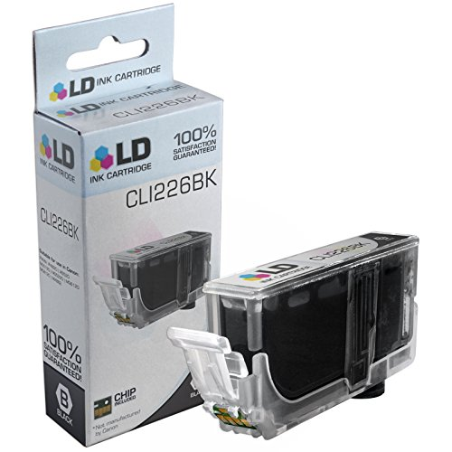 LD © Compatible Replacement for Canon CLI-226BK Black Ink Cartridge for Canon PIXMA iP4820 ,iP4920, iX6520, MG5120, MG5220, MG5320, MG6120, MG6220, MG8120, MG8120B, MG8220, MX712, MX882, & MX892