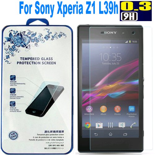 【5pcs】 Nacodex® Hardness Tempered Glass Screen Protector for Sony L39h Xperia Z1 C6902 C6903 [9h Hardness✔] [0.3mm Thin✔] [Original✔] [Simple Retail Box✔] [ Fast Shipping✔][ Hd✔] [ W/tracking No. ✔] [ Package with Bubble Air Column ✔] 【Disposable Bundle on Sale for Our Customer /Save Money】