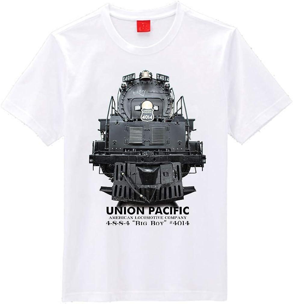 UNION PACIFIC BIG BOY STEAM LOCOMOTIVE BLUEPRINT MENS T SHIRT TRAIN RAILWAY USA