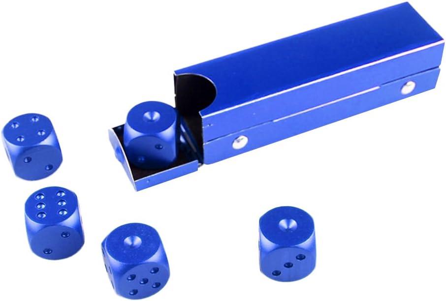 MagiDeal 5X Dado Puntos de Aleación de Aluminio Accesorios para Juegos de Mesa - Azul: Amazon.es: Juguetes y juegos