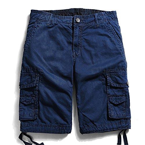 Men Military Cargo Multi Pocket Shorts Loose Work Short Pants Plus Size Bottoms