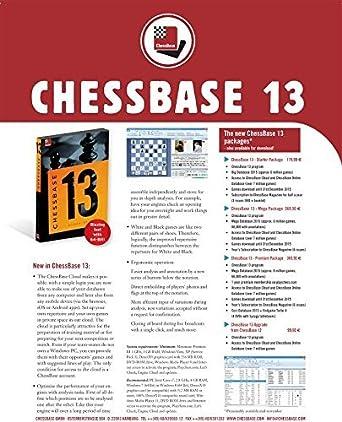 Amazon com: CHESSBASE 13 - STARTER Edition: Cell Phones