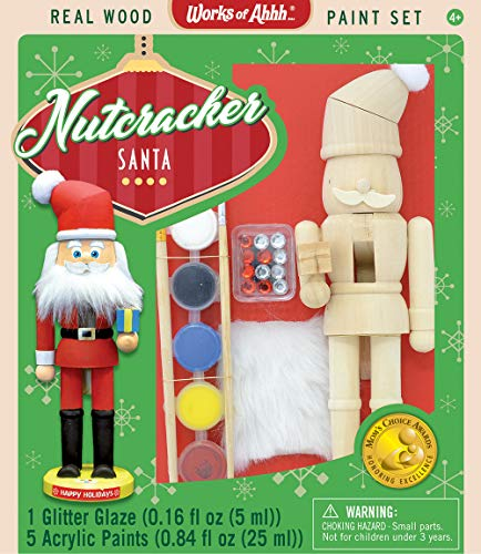 (MasterPieces Works of Ahhh Nutcracker Santa Large Wood Paint Kit)