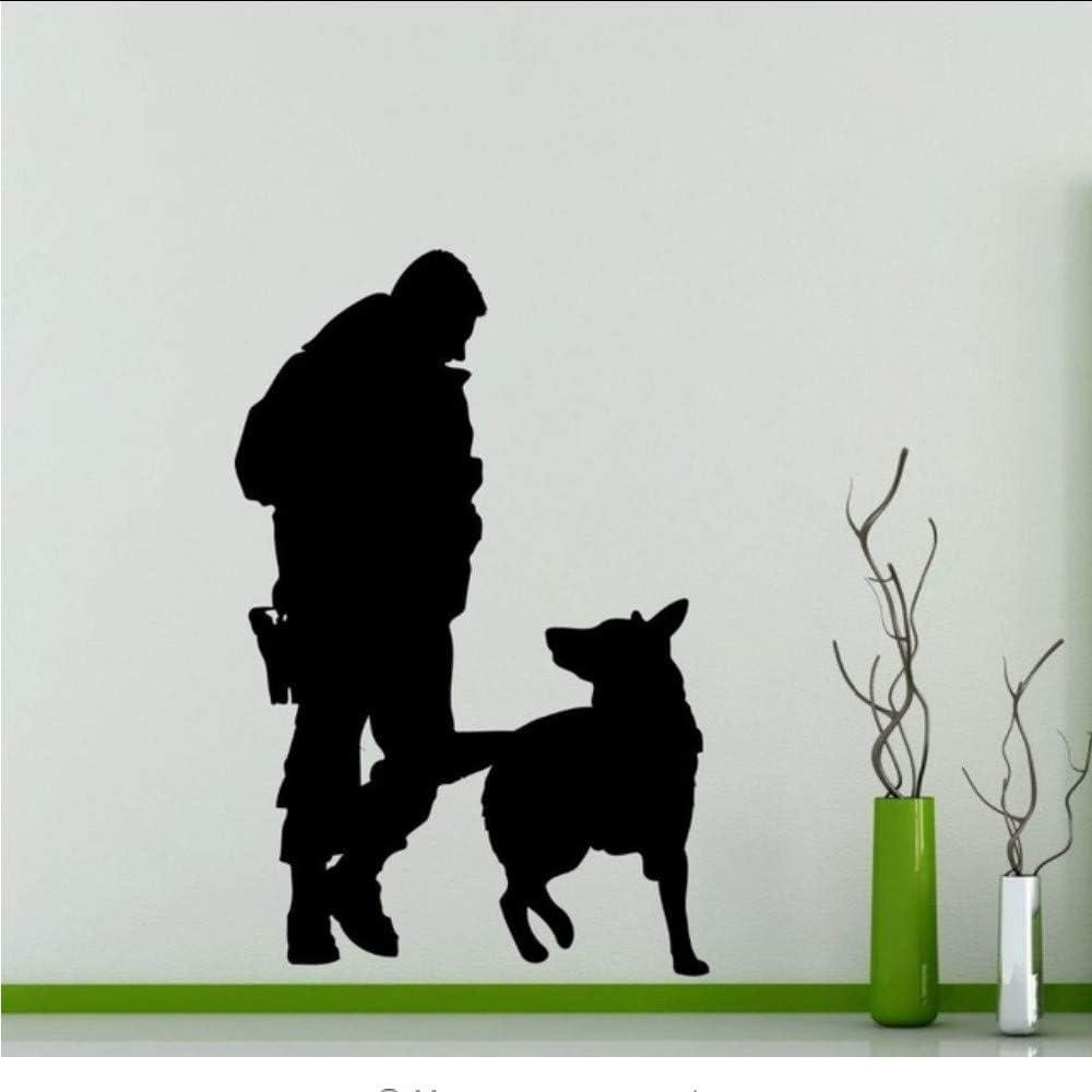 tzxdbh Soldado con Su Silueta De Perro De Policía Arte Tatuajes De ...