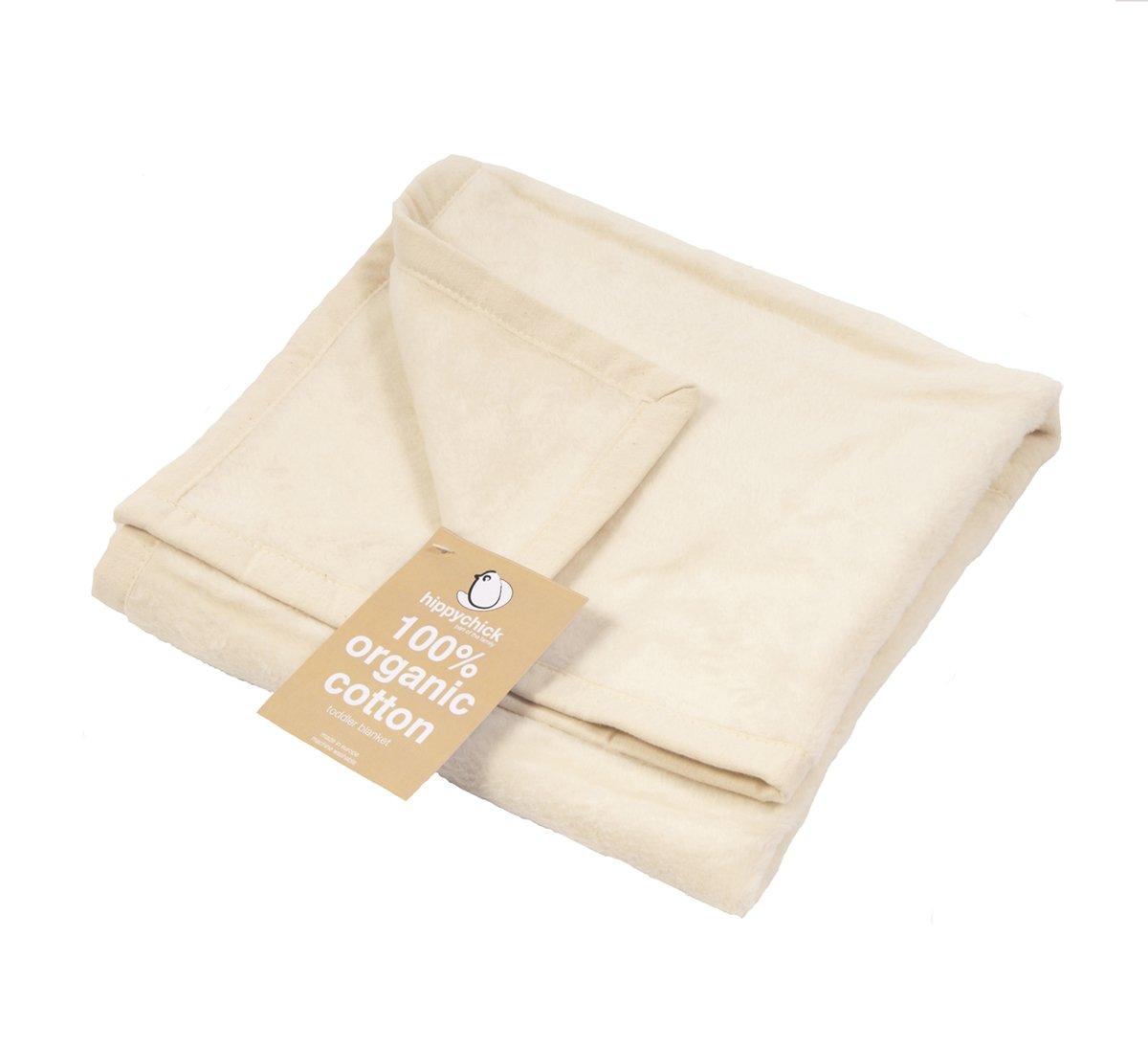 Hippychick Organic Cotton Toddler Blanket (Natural, 100X150Cm)